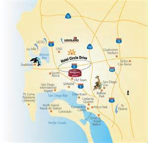 San Diego Area Map by San Diego Hotel And Travel Guide Maps And Directions To