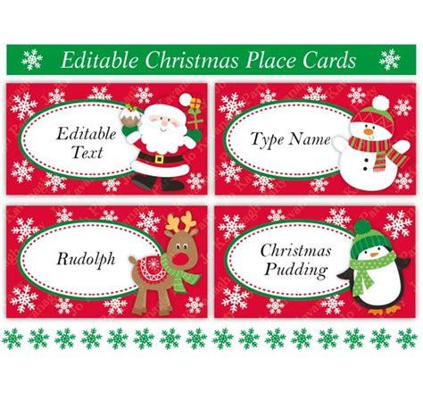 Christmas Place Cards Christmas Table Settings Christmas Etsy Table Setting Name Cards Template