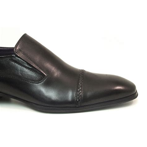 buy mens black formal slip on shoes gucinari