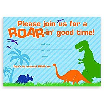 amscan invitation templates amscan prehistoric postcard invitations