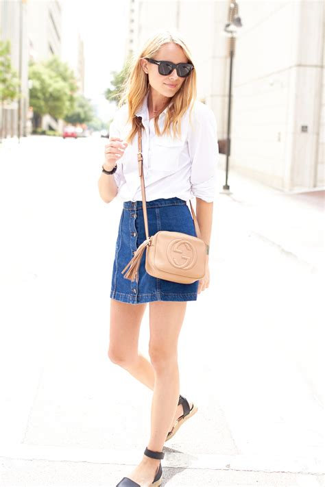 button front denim skirt fashion jackson