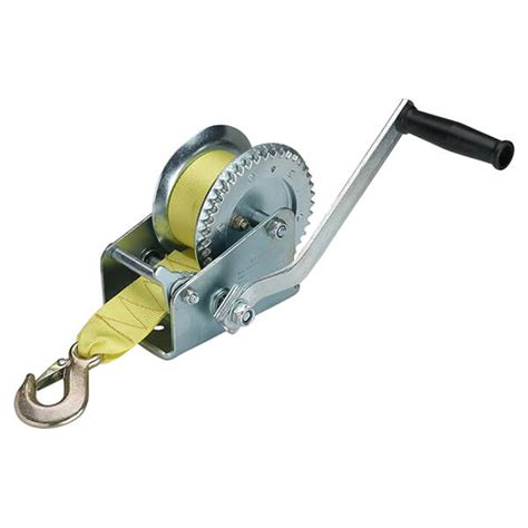 boat winch with strap hand strap winch 2000 lb heavy duty car boat atv truck