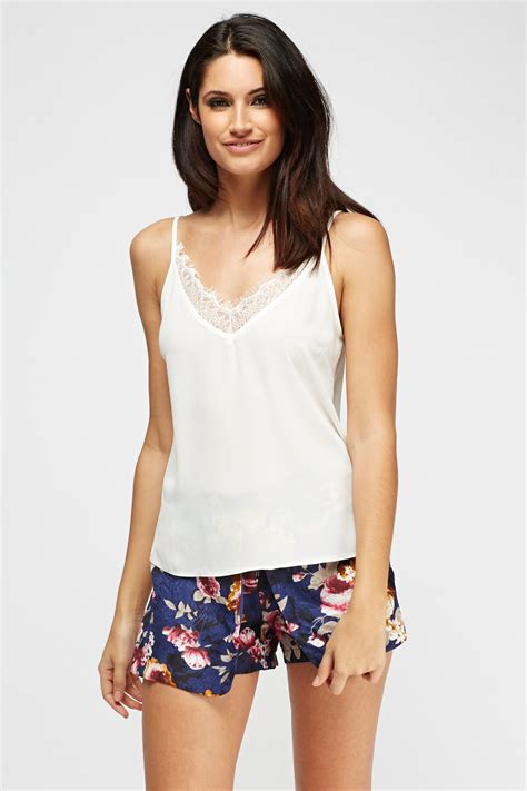 cami best lace insert white cami top just 163 5