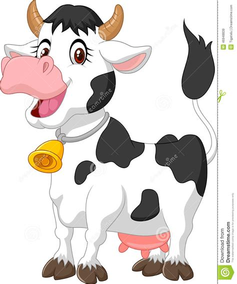 imagenes de vacas kawaii vaca feliz de la historieta ilustraci 243 n del vector