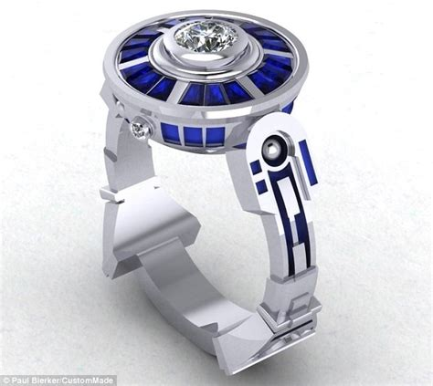 wars wedding ring from r2 d2 inspired engagement rings to dna shaped wedding bands the ultimate tokens for