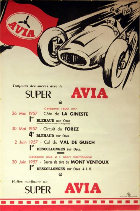 Avia Original original vintage posters gt sport posters gt avia