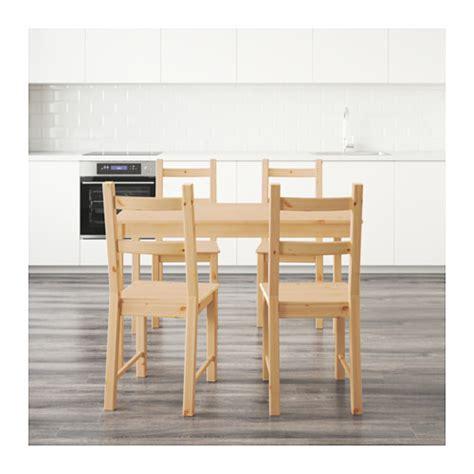 ingo ivar table and 4 chairs pine 120 cm ikea