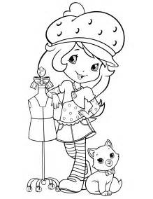 strawberry shortcake 44 coloringcolor