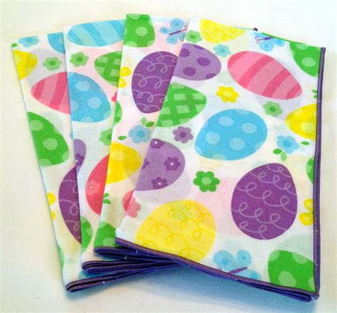 easter napkins set of 4 easter cloth dinner napkins with pastel easter egg