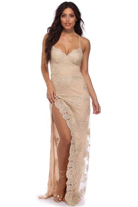 formal dresses gold lace formal dress