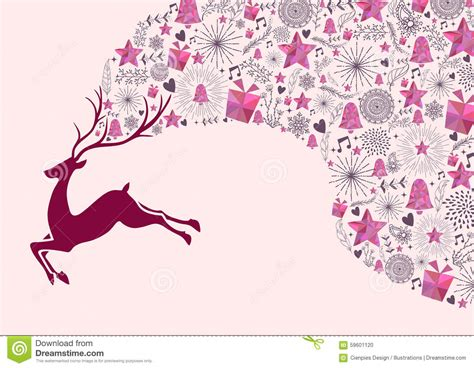 colorful card background design elements free vector in reindeer christmas greeting card background gift stock