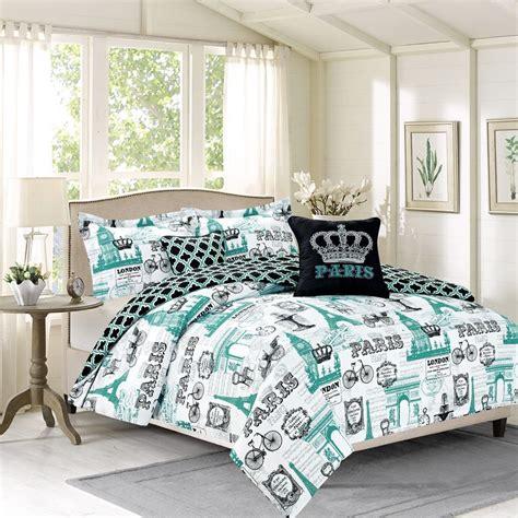 eiffel tower bedroom set royal vintage imagery design bedding comforter bed set paris eiffel tower london ebay