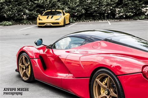 golden laferrari gold wheeled laferrari spotted at the factory