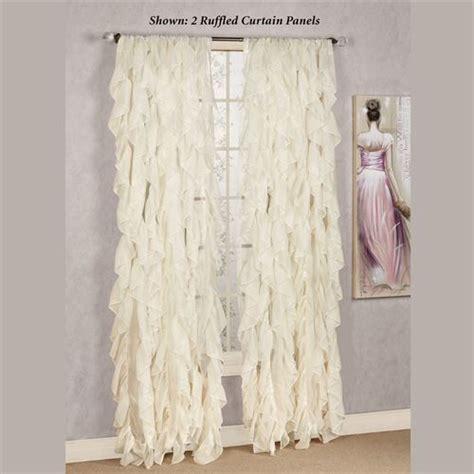 cascade curtain cascade sheer voile ruffled window treatment