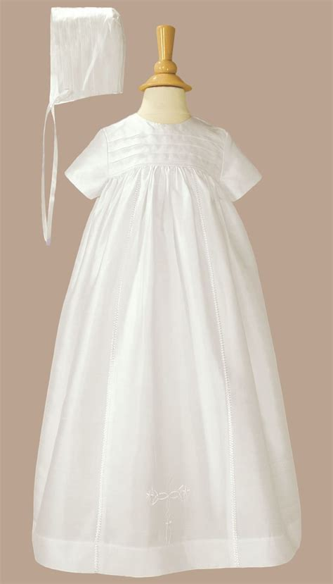 Handmade Christening Gowns - silk dupioni handmade generation heirloom christening gown
