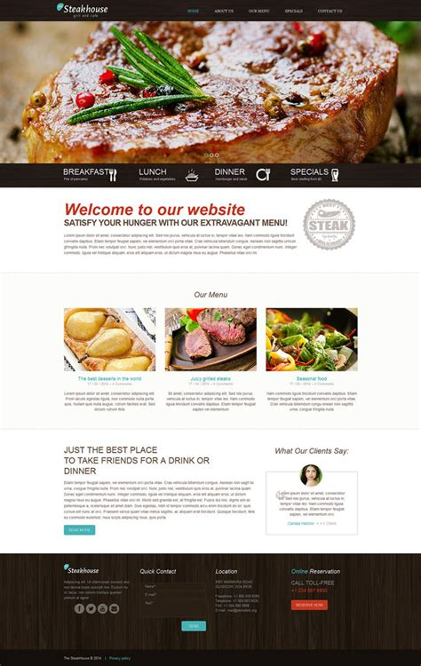 10 best responsive website templates for 2014 designmaz 30 best restaurant themes for your business to thrive