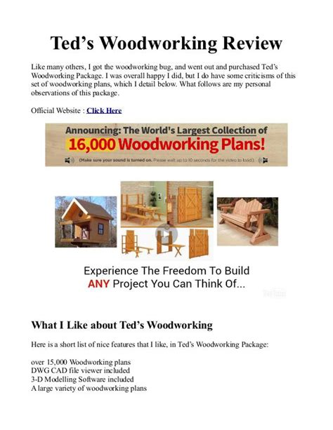 teds woodworking  plans   woodworking plans