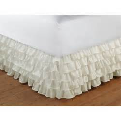 bed skirt multi ruffle bed skirt walmart