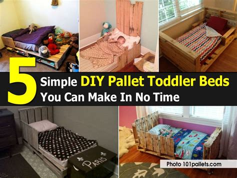 diy children s pallet bed 5 simple diy pallet toddler beds you can make in no time