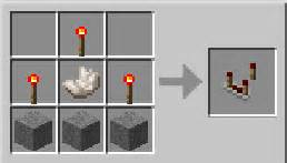 comparateur de redstone minecraft item id craft recette
