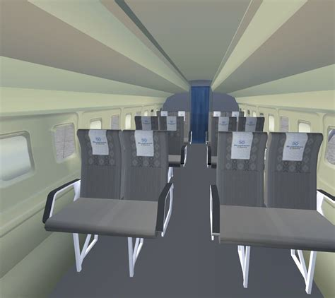 Fokker 50 Interior by Fokker 50 Flight Deck And Passenger Compartment For Fsx