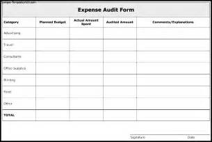 audit template expense audit form template sle templates
