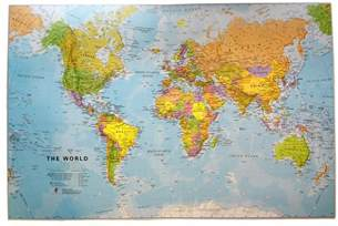 world map desk mat stanfords