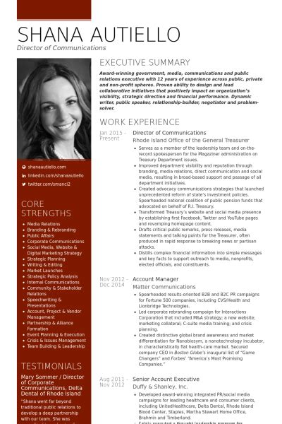director of communications resume sles visualcv
