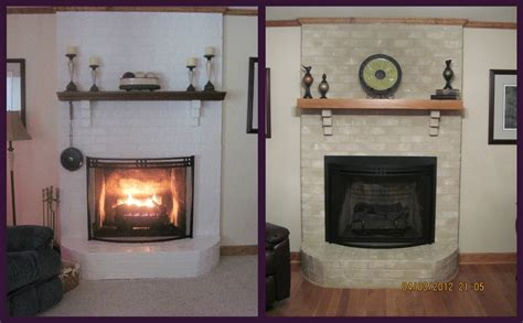 Paint Colors For Brick Fireplace by Brick Fireplace Makeover For Season Brick Anew