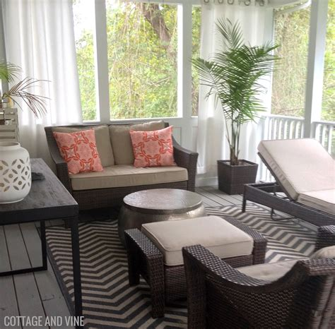 screened porch makeover cottage and vine before after screened porch makeover