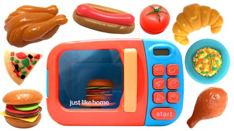 just like home microwave oven kitchen set cooking