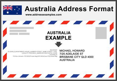 Address Australia Australia Address Format Addressexles