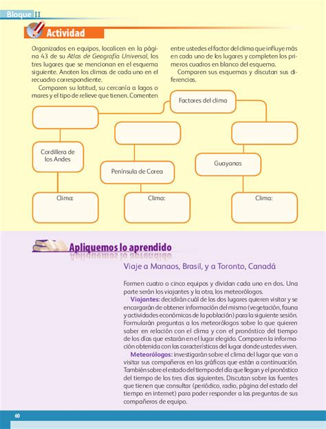 pagina 100 libro geografia quinto grado sep los diferentes climas del mundo quinto geograf 237 a