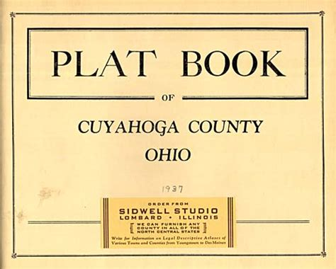 Property Records Cuyahoga County Hixson 1937 Cuyahoga County Plat Maps