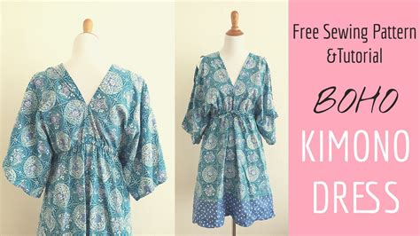 kimono pattern youtube boho kimono dress sewing tutorial youtube