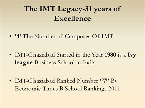 Imt Dubai Mba Ranking by Imt Dubai Mba Program