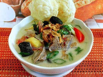 resep soto daging sapi santan khas betawi daging sapi