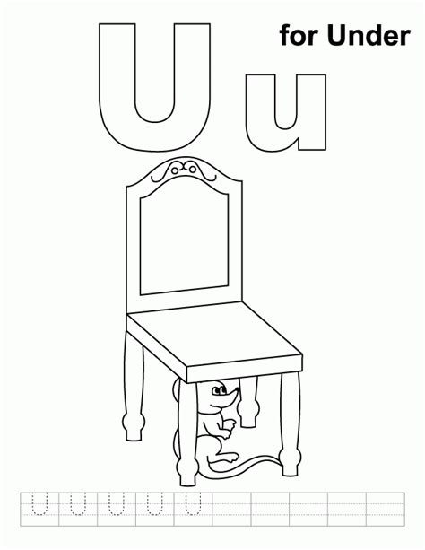 Letter U Coloring Page   Coloring Home