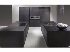 Grey Kitchen Island cucina con doppia isola in cemento nero one cucina in