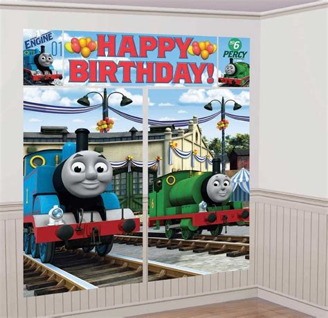 thomas the train l thomas the train scene setter birthday party wall
