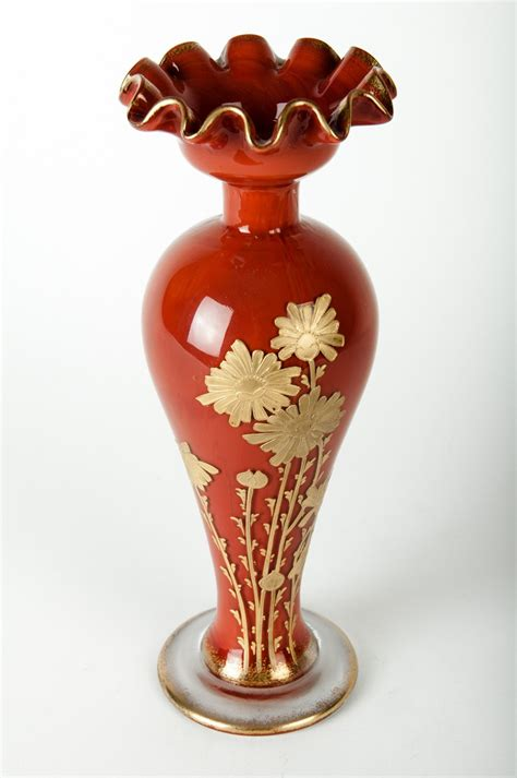Baccarat Vase by Antique Baccarat And Gilt Appliqu 233 D Vase At