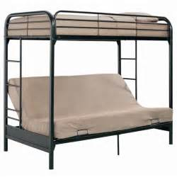 Bunk Bed With Futon Metal Futon Bunk Bed Plans Design Ideas