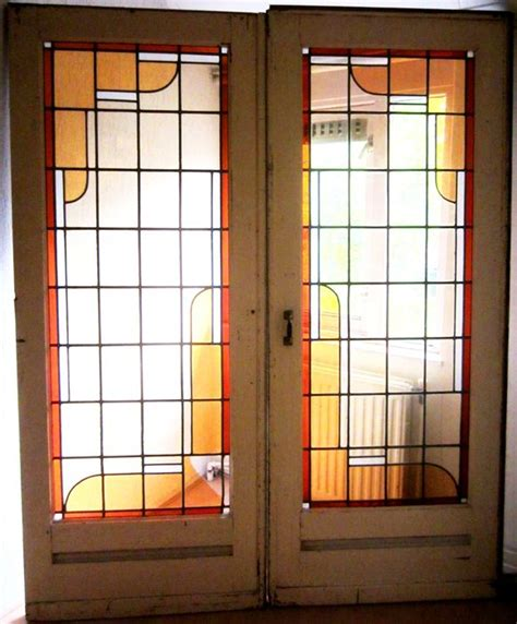 Sliding Doors With Stained Glass Catawiki Stained Glass Sliding Doors