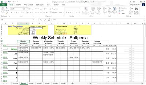 ms excel employee shift schedule template word excel templates