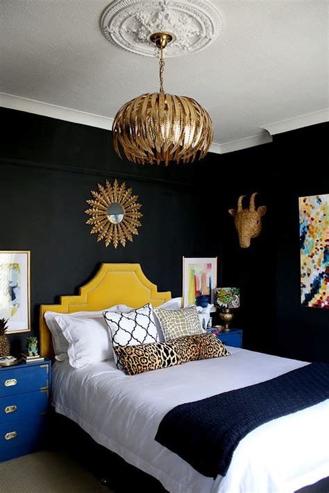 Black And Gold Headboard by Best 25 Yellow Headboard Ideas On Yellow