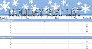Christmas Present List Template Christmas Gift List Template Quotes Lol Rofl Com