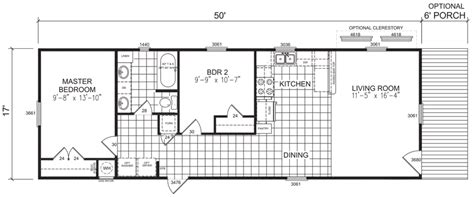 18 wide mobile home floor plans empire 18 x 50 850 sqft mobile home factory expo home