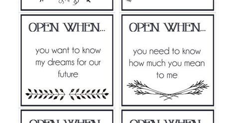 printable open when envelope labels dropbox open when envelope labels diy pinterest