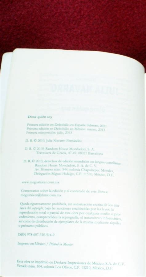 dime quien soy tell me who i am by julia navarro 9780307741721 paperback barnes noble libro dime quien soy tell me who i am julia navarro 450 00 en mercado libre
