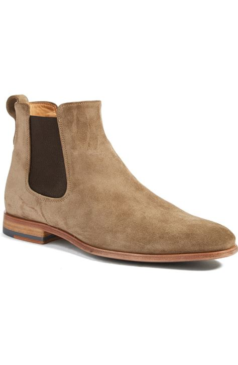 handmade beige color genuine suede ankle boots